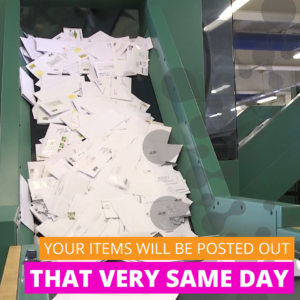 Your items will be posted out that very same day.