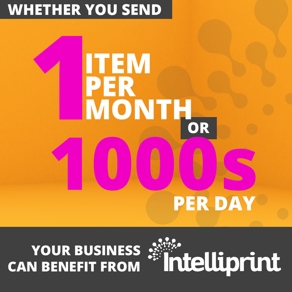 Whether you send 1 item per month or thousands per day, your business can benefit from Intelliprint.