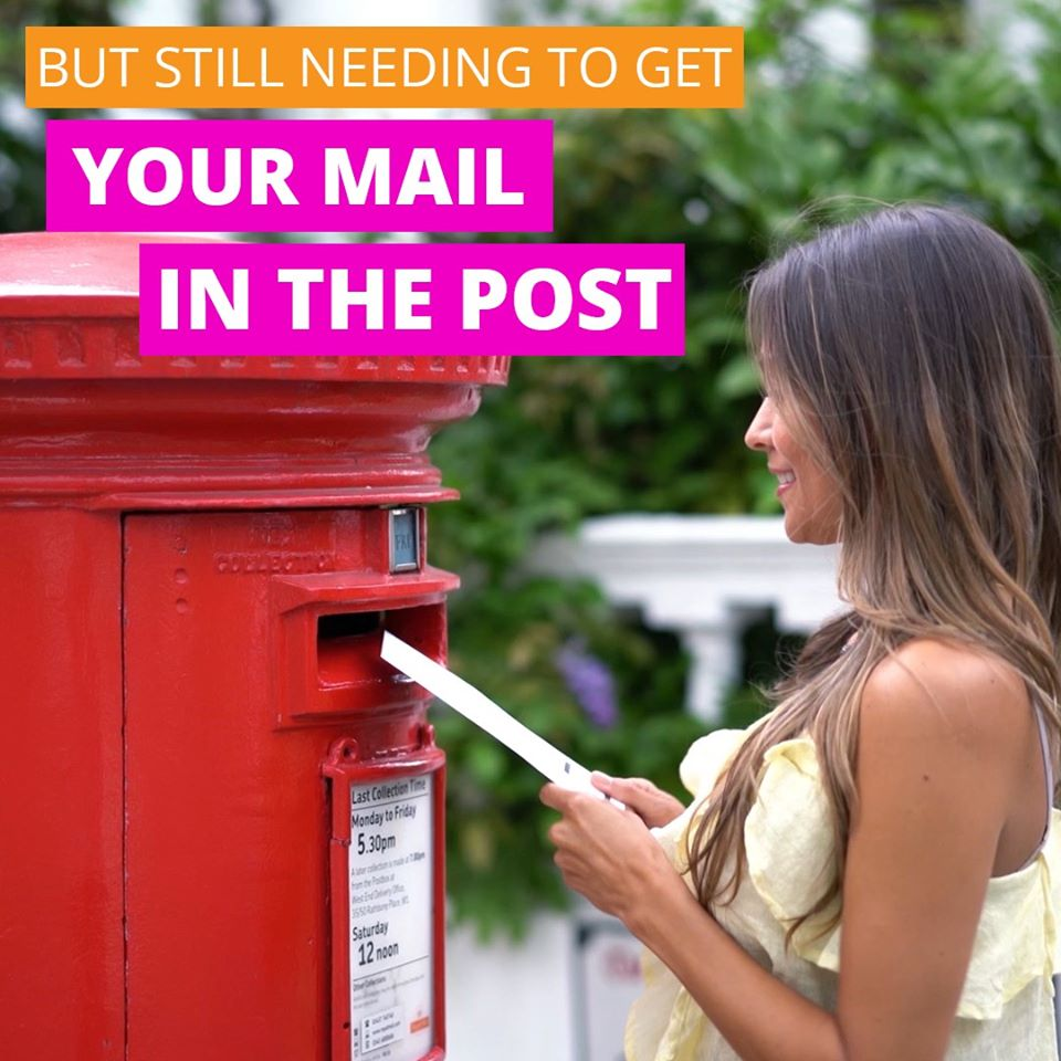 but still needing to get your business mail in the post.